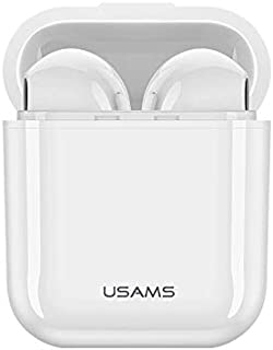 USAMS TWS Dual True Wireless Bluetooth Stereo Headset Earphone Eearbuds - White
