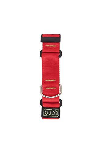 bub's Collar Martingale - Collar para Perro Grande/Mediano, antialérgico y Suave.Diseñado para Todo Tipo de Razas de Perro y Especialmente para Galgos(Comprobar tamaño: Cuello 26 a 45) Color Rojo