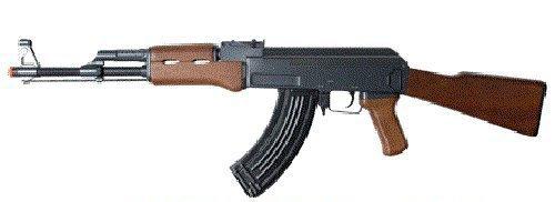 double eagle full auto electric metal aeg ak-47 rifle fps-350 airsoft gun(Airsoft Gun)