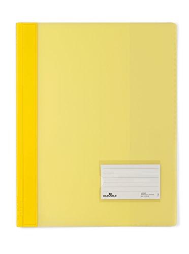 DURABLE Hunke & Jochheim Schnellhefter DURALUX®, transluzente Folie, für A4 Überbreit, 280x332mm, gelb