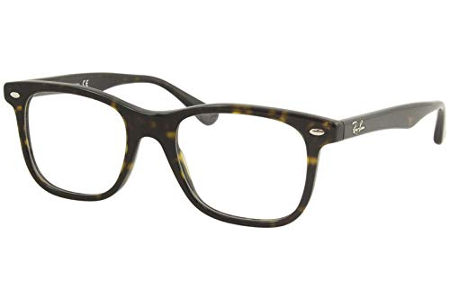 Ray-Ban RX5248 Prescription Eyeglass Frames, Dark Havana/Demo Lens, 51 mm