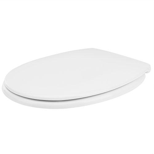 Deuba toiletdeksel dubbele softclosemechanisme met ABS-scharnieren incl. montagemateriaal toiletbril deksel duroplast Duroplast wit