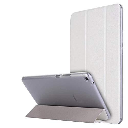 Caja de la Tableta para Huawei Mediéspad T3 8 Funda de Cuero de la Tapa de pie para el Honor Play Pad 2 8 0 Pulgadas KOB-L09 KOB-W09-blanco