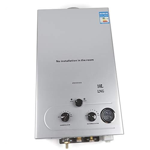 10L Warmwasserbereiter 36KW Edelstahl-Flüssigöl-Propan-Warmwasserbereiter Instant-On-Demand-Kessel Tankless-Gaswarmwasserbereiter für die Küche Badezimmer nach Hause