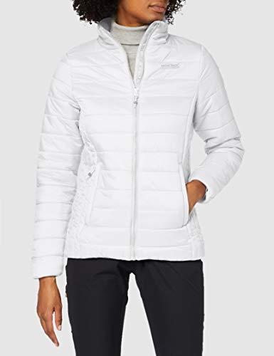 Regatta Freezeway II Chaqueta acolchada, tejido ligero con aislamiento y bolsillos con cremallera Baffled/Quilted Jackets, Mujer, White, 8