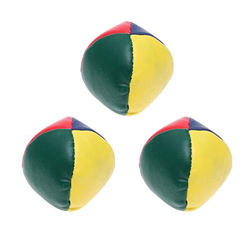 TOYANDONA 3 Stück Jonglierbälle Leder Jonglierausrüstung Weiche Einfache Jonglierbälle für Anfänger Kinder Kinder
