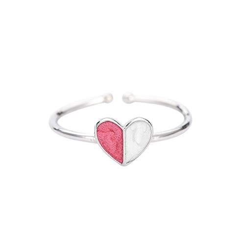 Love Ring Open Wijsvinger S925 Zilveren Ring Dames Wild Fashion Armband Geschikt Voor Koppels Cadeau Roze Wit