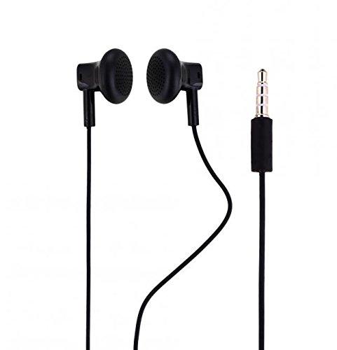 Original Nokia Headset in Schwarz für Lumia 830 Kopfhörer Ohrhörer geformt Ohrstöpsel 3,5mm Stecker Stereo Sound NOKHB3