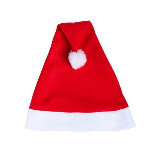 DISOK Set di 50 cappelli di Babbo Natale rossi - Cappelli di Babbo Natale economici