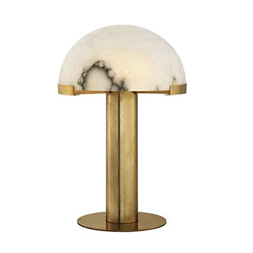 Lámpara de escritorio Lámpara de mesa LED de cobre de lujo simple moderna Lámpara de lectura creativa para el hogar Sala de estar Dormitorio Mesita de noche Club Decoración de mármol Lámpara de lectur