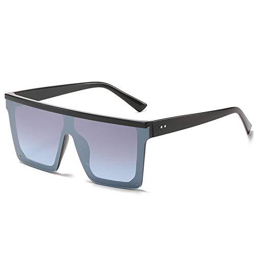 Duulo Gafas de sol cuadradas grandes con parte superior plana para hombres y mujeres Gafas de sol de una pieza