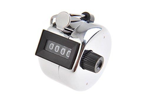 Tetra mechanischer Zähler / Handzähler / Mengenzähler aus Metall, 4-stellig - Mod. (5202 DE)