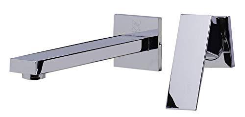 ALFI brand AB1468 Single Lever Wallmount Bathroom Faucet, Polished Chrome