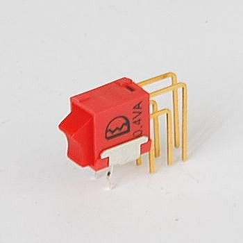 Linkman 基板実装型超小型ロッカスイッチ 赤 ON-ON Vertical right angle PC端子 4UD1-R1-3-M7-R-N-R