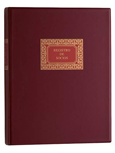 Multifin 4032537 - Libro de registro de socios, 50 hojas cambiables