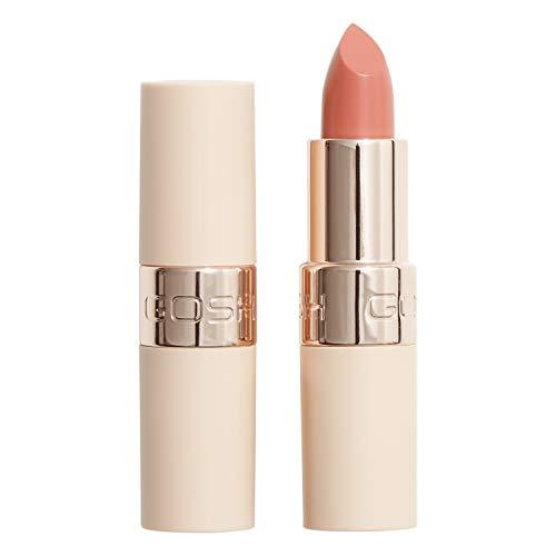 GOSH Luxury Nude Lippenstift mit leichtem Schimmer │ intensive Nudetöne für ein natürliches Ergebnis │ spendet Feuchtigkeit für weiche Lippen | langanhaltend, parfümfrei & 100% vegan | 001 Nudity