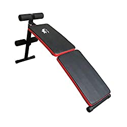 The bench has a padded mattress. Ideal for multiple exercise in a limited space. Maximum user weight is 100 kg. The bench can be folded away in just a few steps. Stores in a relatively small space after use. Sturdy build with a 1 year warranty. Carto...