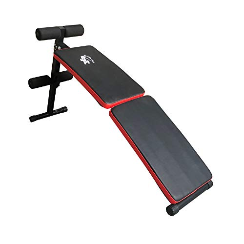 FIT4HOME Foldable Sit up Bench for Core Ab Workout - Abdominal Crunch Exercise Equipment for Home Gym, Fitness Inversion Benches Folding | TF-1109 SUB 53