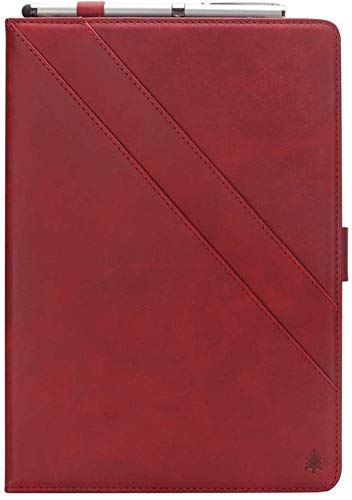 Suney Case for Tab S5e 10.5(SM-T720/SM-T725),Business Protective Case Hand Free Stand PU Leather Protective Cover with Card Slots and Pen Holder for 2019 Galaxy Tab S5e 10.5(SM-T720/T725) - Red