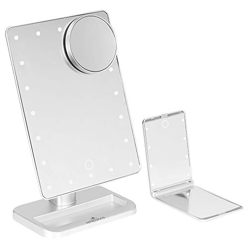 Impressions Vanity Silver Touch XL & Touchup Makeup Vanity Mirrors with LED -