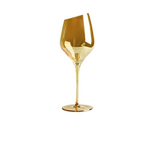 LITHAPP Champagnerglas Kristallglas Champagnerglas Becher Rotwein Glas SchräG Mund V Förmiges Cocktailglas Weinglas,F/450cm