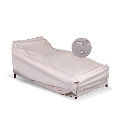 Yuany Terrassenmöbelabdeckungen Innen wasserdicht Staubdicht Einfarbiges Schlafsofa PE Paste Oxford Stoff Sofa Schutzhülle