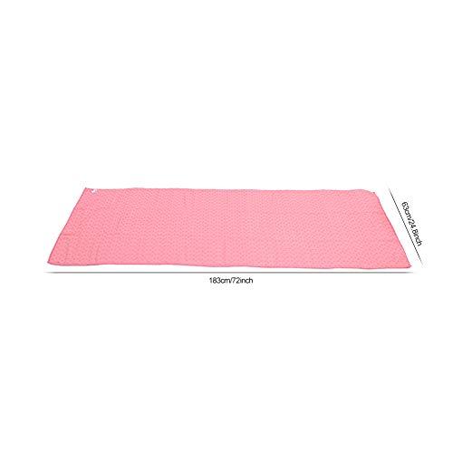 Surebuy Cubierta Absorbente de la Estera de la Yoga Manta de la Estera de la Yoga para el Gimnasio(Pink)
