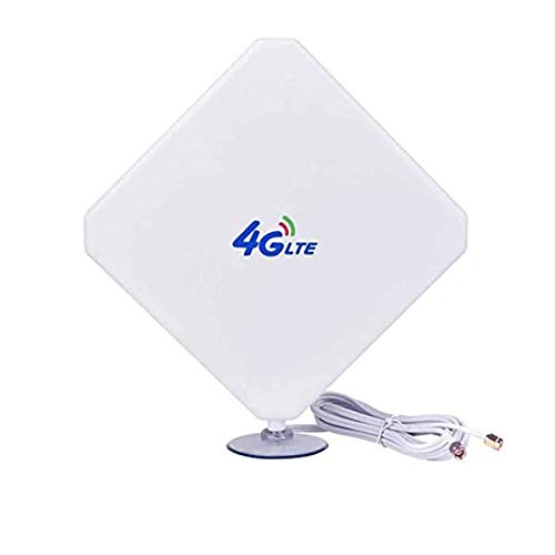 4G Antenna SMA LTE Antenna 35dBi High Gain Long Range Network Antenna with Suction Cup and 10ft Extension Cable for 4G WiFi Router Mobile Hotspot Outdoor Signal Booster