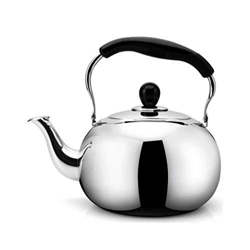 JXLBB Eau de boisson saine de la mode cuisinière induction cuisinière gaz général sifflet automatique 304 acier inoxydable (Capacity : 4L)