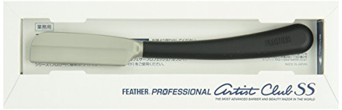 Feather Black SS Japanese Straight Razor