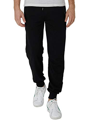 Idgreatim Uomo Tuta Slim Fit Pantaloni Casual Pantalone della Tuta da Ginnastica Activewear da Corsa Fondo con Doppia Tasca