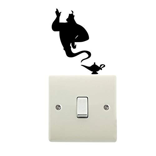 ZAOPP Interruptor De La Luz De La Lámpara del Vinilo De La Etiqueta De La Pared Dormitorio (Color : Black)