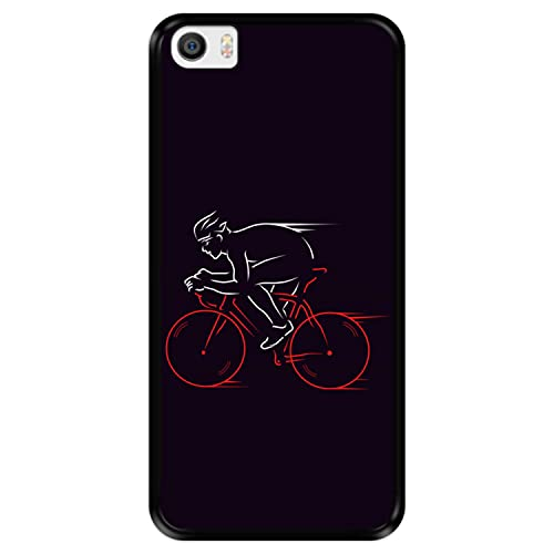 Hapdey Funda Negra para [ Xiaomi Mi5 - Mi 5 ] diseño [ Atleta, Ciclista en Bicicleta ] Carcasa Silicona Flexible TPU