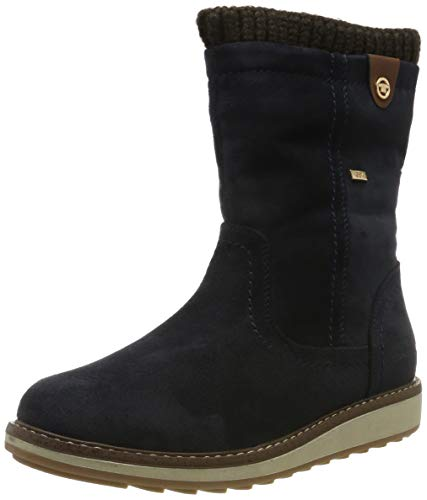 TOM TAILOR Damen 7992707 Stiefeletten, Blau (Navy 00003), 39 EU