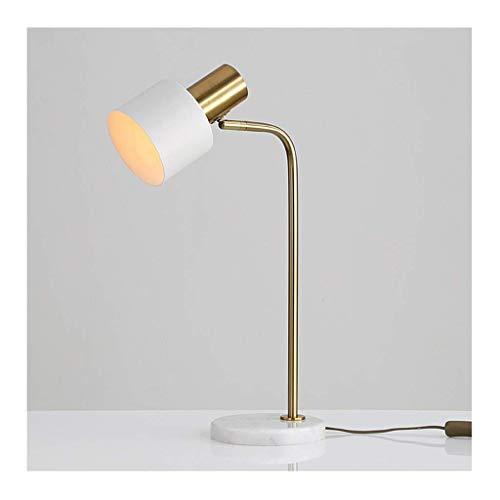 LJ Schreibtischlampe Tischlampe - Modernes einfaches Metall-Marmor-Schreibtischlicht , Einstellbarer Winkel , Druckknopfschalter / E27 * 1 , Büro-Arbeitszimmer-Lesehotel,B-6w Dreifarbiges Dimmen