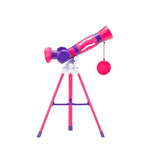 Learning Resources EI-5129-P GeoSafari Jr - Telescopio Infantil, Color Rosa