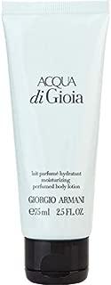 Armani Acqua Di Gioia Women Body Lotion Tube, 2.5 Ounce