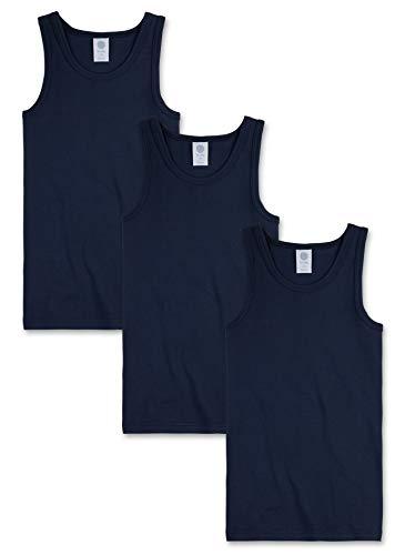 Sanetta Jungen 3Er Pack Shirt, 300000 Unterhemd, Blau (Neptun 50226), 128