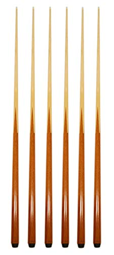 HAN'S DELTA Set of 6 Pool Cues New 57