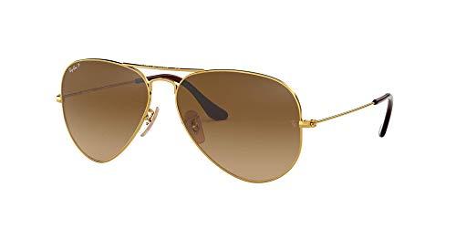 Ray Ban - Gafas de sol unisex con montura de metal, 58 mm