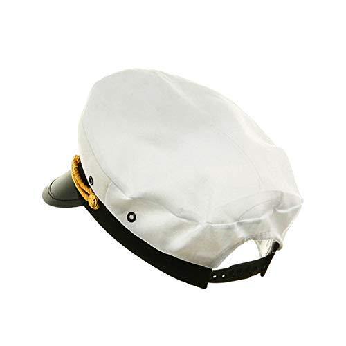 2 Pack Yacht Captain Hats Adjustable Yacht Hats Navy Sailor Hats Captain Cap