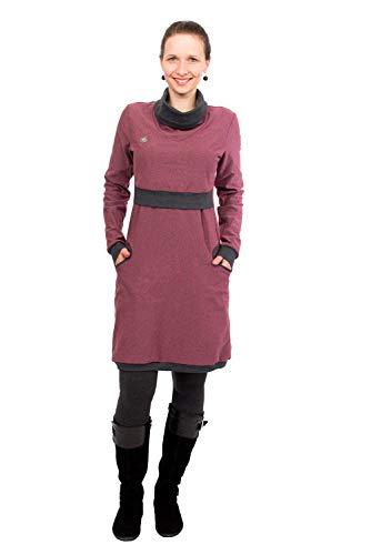 Viva la Mama - Schwangerschaft Kleid elegant warm Umstandskleid Baumwolle Stillen Stillkleid Neele Beere - S