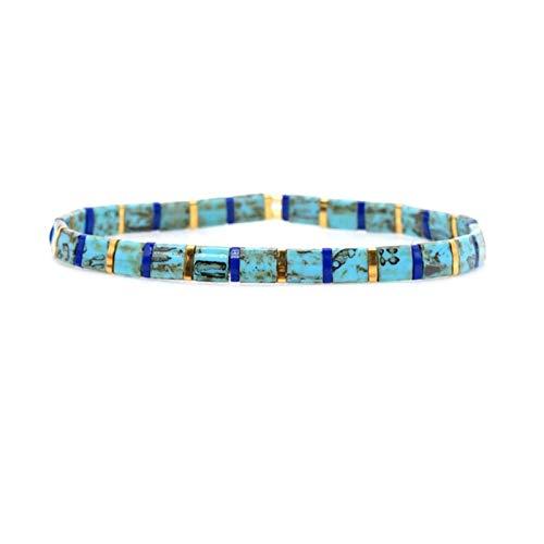 AQUALITYS Boho Bracelet For Women Gift Wholesale Bracelets Jewellery Glass Bead Pulseras Femme Tila Jewelry