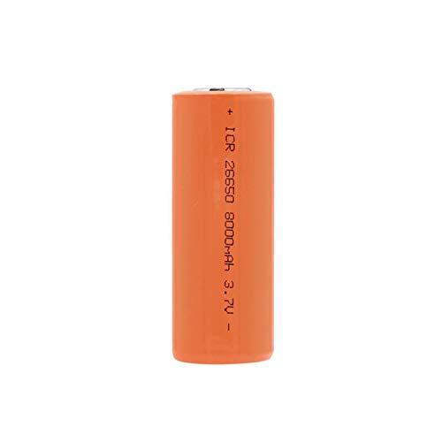 HTRN Batería De 3.7v 8000mah 26650, Batería Recargable Conveniente para La Linterna 1PCS