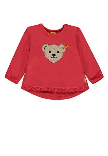 Steiff Steiff Baby-Mädchen 1/1 Arm Sweatshirt, Rot (Hibiscus 2104), 68