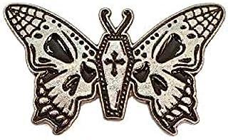 Gothic moth falena gotica morte teschio Enamel Pin spilla