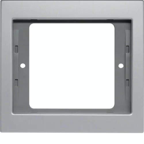 Hager K5–Rahmen 1Element Aluminium