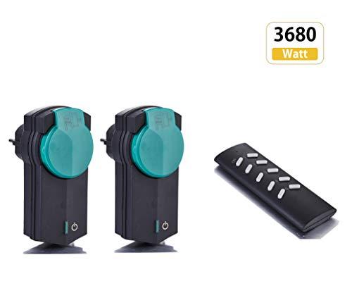 ZEYUN enchufe con mando a distancia(2 + 1) para uso en