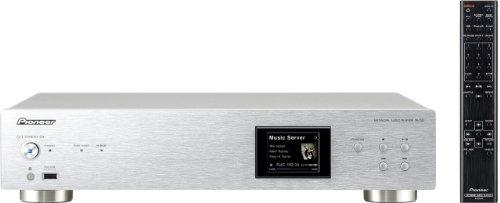 Pioneer N-50-S Netzwerk Multimediaplayer (Airplay, DLNA, WLAN, 2x USB) Aluminium/silber