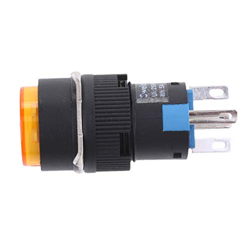 Almencla LED Drucktastenschalter Mit 16 Mm Durchmesser Und Selbst Reset Schalter Gelb